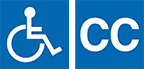 Wheelchair accessible and closed captioned logos